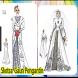 Design Sketch of Bridal Gown