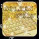 Neon Golden Glitter Keyboard