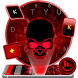 Neon Red Skull Keyboard Theme by Beautiful Heart Design