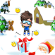 Ski Downhill christmas santa by ggwpapp