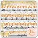 Orange Silver Bow Keyboard Theme by Beautiful Heart Design