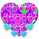 Typany Glitter Hearts Keyboard Theme by 3D / Animated Keyboard Themes