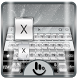 Galaxy Silver Keyboard Theme by Fashion Cute Emoji