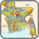 Bangladesh map by Free world maps available