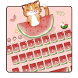 Pink kitty watermelon keyboard by Echo Keyboard Theme