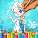 Snow Queen & Princess Coloring Page by GamePlayStudio.net