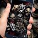 Gun skull graffiti lock screen desktop by Cool Theme Creator