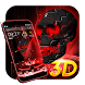 Neon Tech Skull 3D Theme by 3D Theme Studio