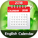 English Calender 2018 by Photo Video Art