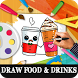 How to Draw Drinks and foods by Pixel Small