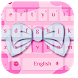 Pink Hearts Bowknot Keyboard by live wallpaper collection