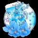 azure mild sapphire floret by live wallpaper collection