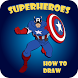 Draw a cartoon superhero