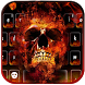 Flame skull keyboard Theme by Fly Liability Themes