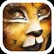 woman lion clown theme