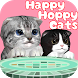 Happy Hoppy Cats by Takn.Factory