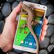 Lizard in phone funny joke by Just4Fun