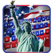 independence day usa keyboard statue liberty us by M Typewriter Theme Studio
