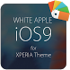 White APPLE for XPERIA Theme by androrank.com