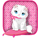 Pink Kitty Keyboard Theme by cool wallpaper