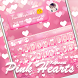 Pink Hearts Keyboard Theme by Keyboard Dreamer