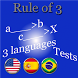 Rule of three tests Voice 3 languages