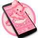 Pink Elephant Cute Theme by stylish android themes