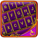 Purple Royal Laser Keyboard Theme by Beautiful Heart Design