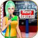 News Reporter Anchor Girl