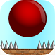Crazy Red Bouncy Ball Spikes by Blusee