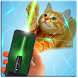 Laser Flash Light Pointer Cat by Rachel Madisson
