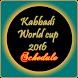 Kabaddi Schedule by jboghani
