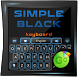 Simple Black GO Keyboard Theme by Keyboard Fashion New