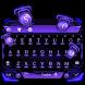 purple future keyboard technology by Keyboard Theme Factory