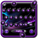 Neon Purple Keyboard Theme by HD wallpaper launcher tema