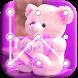 Teddy Bear Pattern Lock Screen by appsfreelocker