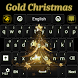 Gold Christmas Keyboard by Luna Themes