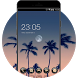 Summer Coconut Palm Sunset Live HD Wallpaper by Mobo Theme Apps Team