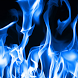 blue flame live wallpaper by motion interactive