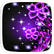 Purple Neon Flower Theme by Heartful Theme