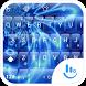 Keyboard Theme Glass Blue Wave by Luklek