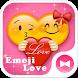 Cute Theme Emoji Love by +HOME by Ateam