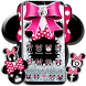 Cute minny pink Bow Silver Diamond Theme by Maddy-Sid