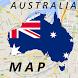 Australia Brisbane Map by Map City
