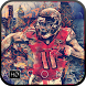 Julio Jones Wallpaper Art NFL by AmericanFootball Wall Studio