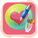 How to draw Heart of love step by step by arteeciabr.ocdev