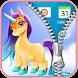 Beautiful Unicorn Zipper Lock Screen