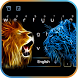 lion cheetah keyboard ice fire lightning theme by Utopia Themes Design-Wallpaper Keyboard Launcher