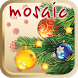 Christmas tree children mosaic by booktouch