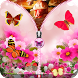 Pink Butterfly Zip Unlock by Kashiapps